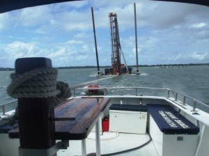 Drill Rigs, barges,